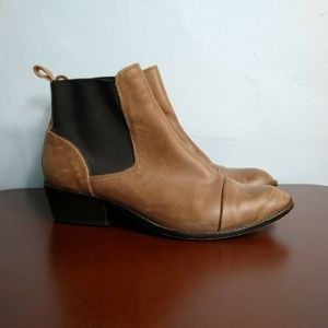 DV by Dolce Vita Distress Leather Chelsea Booties